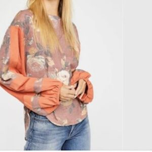 Free People Flower Patch Thermal Top NWT $128 Sz S